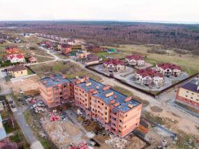"""Аэросъемка Клубный дом """"Рублевский"""""""