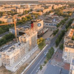 Панорама с дрона г. Череповец - дом на М. Горького