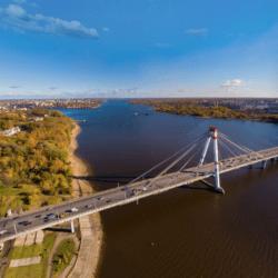 Октябрьский мост - символ города Череповца.